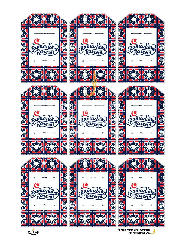 Ramadan Printable Gift Tags Sukar Decor - Sukar Decor ...